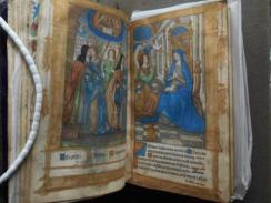 Hand-illuminated double page from the Book of Hours