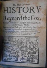 The Most Delectable History of Reynard the Fox (ca. 1694?)